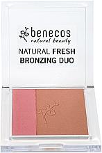 Fragrances, Perfumes, Cosmetics Face Blush-Bronzer - Benecos Natural Fresh Bronzing Duo
