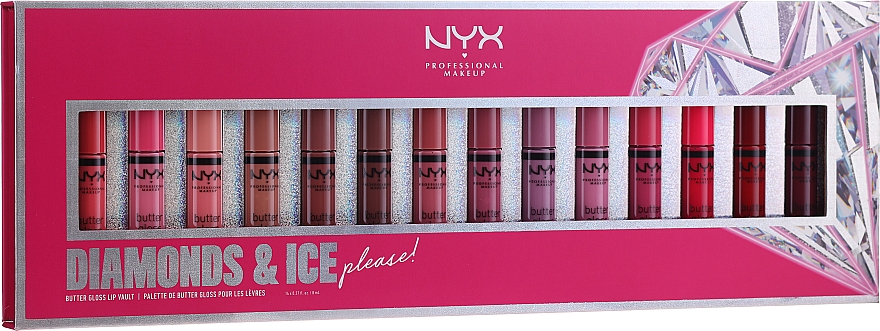 Set - NYX Professional Makeup Diamonds & Ice (lip gloss/14x8ml)