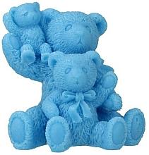 "Fragrances, Perfumes, Cosmetics Natural Soap ""Teddy Bear Family"", blue - LaQ Happy Soaps"