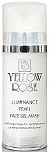 Fragrances, Perfumes, Cosmetics Pearl Face Gel Mask, diamond powder - Yellow Rose Luminance Pearl Face Gel Mask