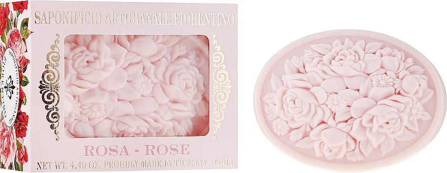 """Natural Soap """"Rose"""" - Saponificio Artigianale Fiorentino Botticelli Rose Soap"""