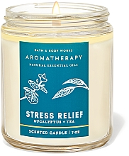 Fragrances, Perfumes, Cosmetics Bath and Body Works Eucalyptus Tea Stress Relief - Scented Candle
