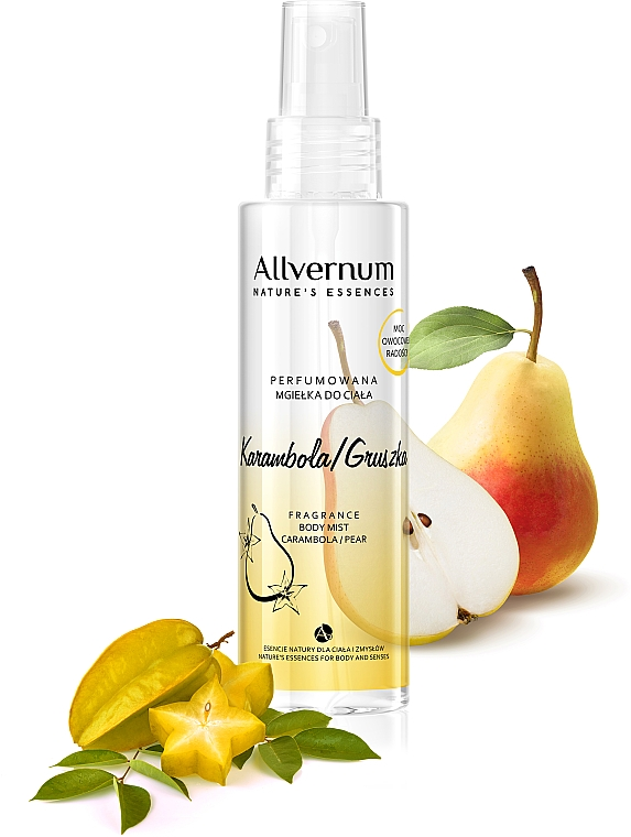 """Scented Body Spray """"Pear and Carambola"""" - Allverne Nature's Essences Body Mist"""
