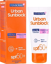 Fragrances, Perfumes, Cosmetics Sun Protective Cream for Sensitive Face Skin - Novaclear Urban Sunblock Protective Cream Sensitive Skin SPF50