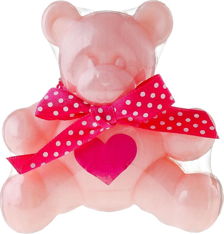 """Glycerin Soap """"Bear"""", pink - Chlapu Chlap Glycerine Soap"""
