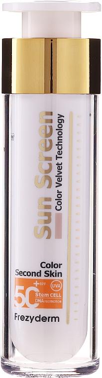 Facial Sun Cream - Frezyderm Sun Screen Color Velvet Face Cream SPF 50+