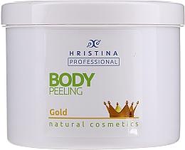 Fragrances, Perfumes, Cosmetics Gold Body Peeling - Hristina Professional Gold Body Peeling