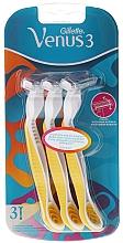 Fragrances, Perfumes, Cosmetics Disposable Razor Set, 3 pcs - Gillette Simply Venus 3 Plus