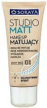 Fragrances, Perfumes, Cosmetics Foundation - Soraya Podkłady Studio Matt Make-up Matting