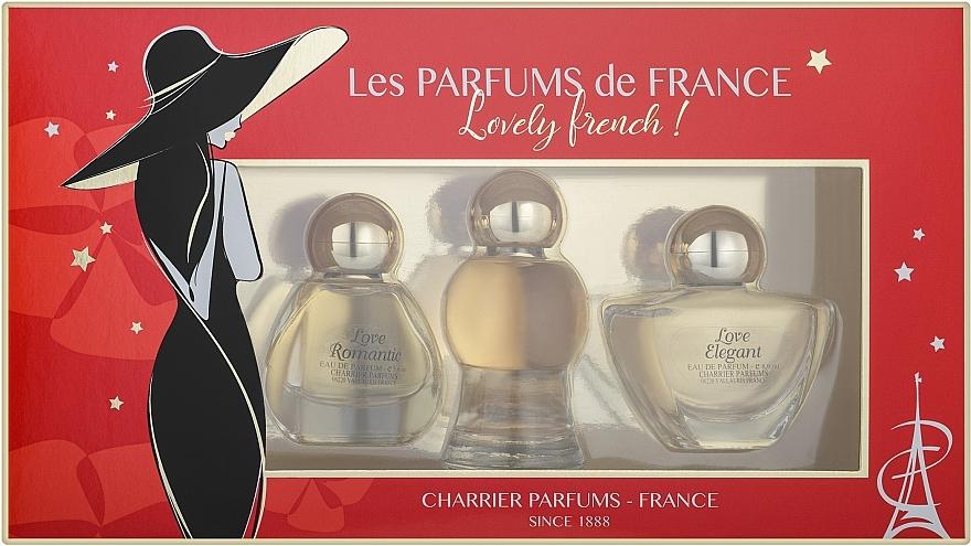 Charrier Parfums Lovely French - Set (edp/8.9ml + edp/10.5ml + edp/5.6ml)