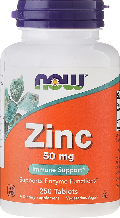 Zink Minerals, 50mg, tablets - Now Foods Zink