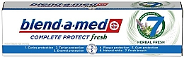"""Fragrances, Perfumes, Cosmetics Toothpaste """"Complex with Herbs"""" - Blend-a-Med Complete Protect Fresh 7 Herbal Fresh Toothpaste"""