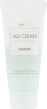 Fragrances, Perfumes, Cosmetics Cleansing Foam for Face - Heimish All Clean Green Foam pH 5.5 (mini size)