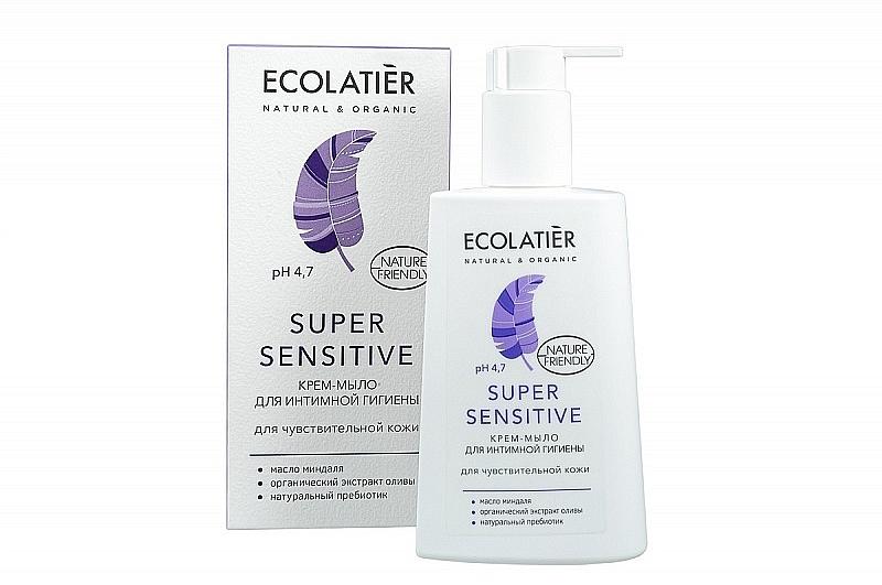 Intimate Wash Cream-Soap for Sensitive Skin - Ecolatier Super Sensitive
