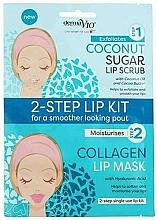 Fragrances, Perfumes, Cosmetics Coconut Lip Mask Scrub - Derma V10 2 Step Lip Treatment Kit Coconut