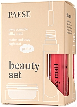 Fragrances, Perfumes, Cosmetics Set - Paese Beauty Set (lipstick/2x6ml + eye/powder/5.3g)