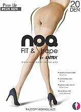 "Fragrances, Perfumes, Cosmetics Body Shaping Tights ""Push up"", 20 Den, visone - Knittex"