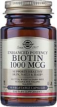 "Fragrances, Perfumes, Cosmetics Dietary Supplement ""Biotin"" 1000mcg - Solgar Enhanced Potency Biotin"