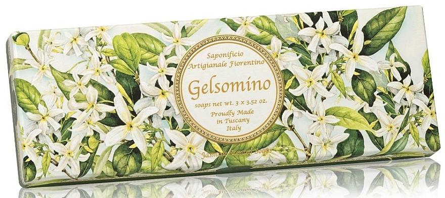 Natural Jasmine Soap Set - Saponificio Artigianale Jasmine Scented Soap (soap/3pcsx100g)