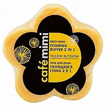 "Fragrances, Perfumes, Cosmetics Shower Gel ""Foaming Buffer 2 in 1. Yellow Blossom"" - Cafe Mimi Body Wash Foaming Buffer 2 in 1 Yellow Blossom"