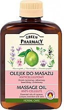 Fragrances, Perfumes, Cosmetics Anti-Cellulite Massage Oil - Green Pharmacy Massage Oil Anti-Cellulite