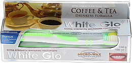 "Fragrances, Perfumes, Cosmetics Set ""Coffee & Tea Drinkers"", green brush - White Glo Coffee & Tea Drinkers Formula Whitening Toothpaste (toothpaste/100ml + toothbrush)"