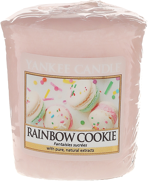 """Scented Candle """"Cookie"""" - Yankee Candle Rainbow Cookie Votive Candle"""