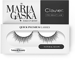 Fragrances, Perfumes, Cosmetics Flase Lashes - Clavier Quick Premium Lashes Natural Beauty 827