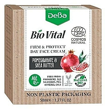 Fragrances, Perfumes, Cosmetics Facial Day Cream 45+ - DeBa Bio Vital Firm and Protect Day Face Cream with Pomegranate Extract
