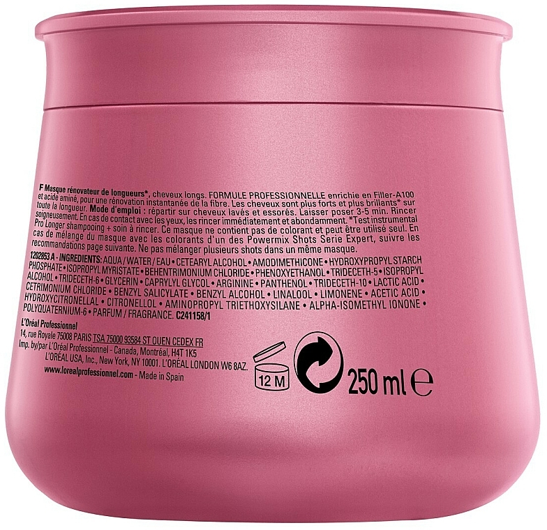 Hair Regrowth Mask - L'Oreal Professionnel Pro Longer Lengths Renewing Masque — photo N2