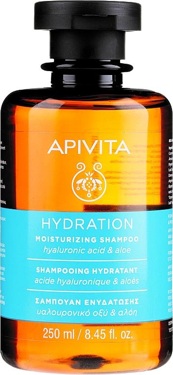 Hyaluronic Acid and Aloe Moisturizing Shampoo - Apivita Moisturizing Shampoo With Hyaluronic Acid & Aloe