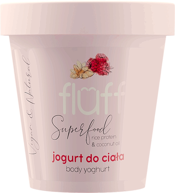 "Body Yogurt ""Raspberry and Almond"" - Fluff Body Yogurt Raspberries and Almonds"