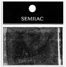 Nail Art Lace - Semilac 06 Transfer Nagelfolie Semilac Black Lace — photo N1