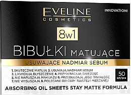 Fragrances, Perfumes, Cosmetics Oil Absorbing Paper - Eveline Cosmetics 8in1