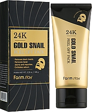 Fragrances, Perfumes, Cosmetics 24K Gold & Snail Peel-Off Mask - FarmStay 24K Gold Snail Peel Off Pack