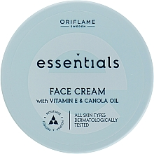 Fragrances, Perfumes, Cosmetics Moisturizing Face Cream - Oriflame Essentials Face Cream With Vitamine E And Canola Oil