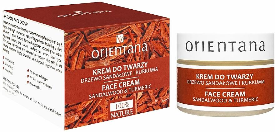 "Face Cream ""Sandalwood and Turmeric"" - Orientana Face Cream Sandalwood & Turmeric"