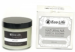 """Fragrances, Perfumes, Cosmetics Scented Candle """"Relax"""" - Eco Life Candles"""