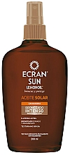 Fragrances, Perfumes, Cosmetics Intense Tanning Oil - Ecran Sun Lemonoil Intensive Tanning Oil Spf2