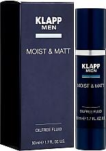 Fragrances, Perfumes, Cosmetics Moisturizing and Mattifying Face Fluid - Klapp Men Moist & Matt Oilfree Fluid