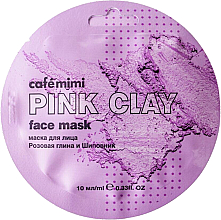 """Fragrances, Perfumes, Cosmetics Face Mask """"Pink Clay & Rosehip"""" - Cafe Mimi Face Mask"""