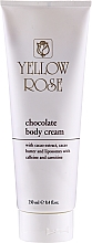 Fragrances, Perfumes, Cosmetics Chocolate Toning Body Massage Cream - Yellow Rose Chocolate Body Cream