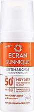 Fragrances, Perfumes, Cosmetics Facial Sun Care - Ecran Sunnique Antimanchas Facial Spf50+