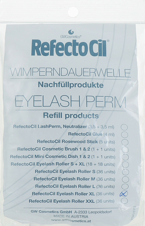 Eyelash Perm, XL - RefectoCil — photo N1
