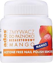 Fragrances, Perfumes, Cosmetics Mango Nail Polish Remover with Sponge - Ados Acetone Free Nail Polish Remover