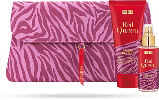 Set - Pupa Red Queen Latte Doccia (bag + Milk/200 ml+edt/100ml) — photo N1