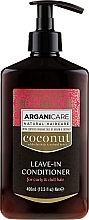 Fragrances, Perfumes, Cosmetics Leave-In Wavy & Dry Hair Conditioner - Arganicare Coconut Leave-In Conditioner For Curly & Dull Hair