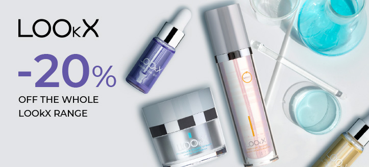 20% the whole LOOkX range. Prices on the site already include a discount