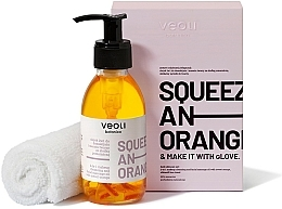 Fragrances, Perfumes, Cosmetics Set - Veoli Botanica Squeeze An Orange (f/oil/132.7g + towel/1pcs)