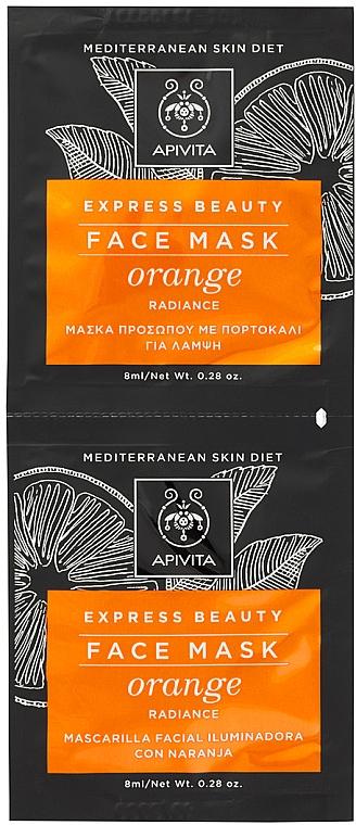 Radiance Orange Face Mask - Apivita Express Beauty Radiance Face Mask